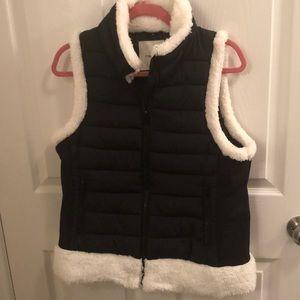 Faux fur vest jacket